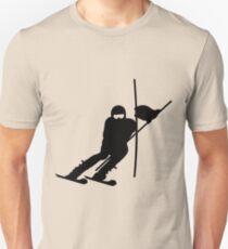 Slalom Skiing VRS2 Unisex T-Shirt