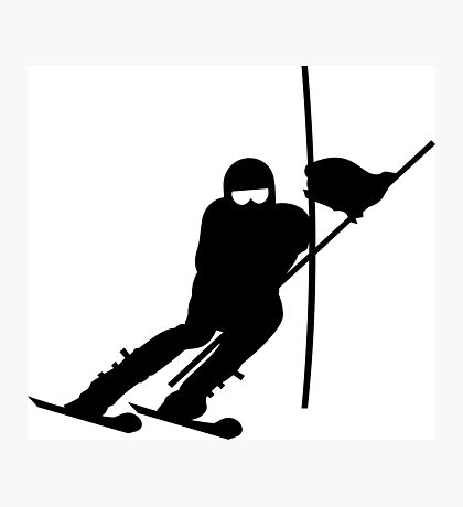 Slalom Skiing VRS2 Photographic Print