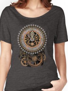 Vintage Steampunk Clock (Stopped at Midnight!...OO-Er!!) Women's Relaxed Fit T-Shirt