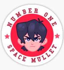 NUMBER 1 SPACE MULLET Sticker