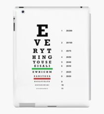 lie chart iPad Case/Skin