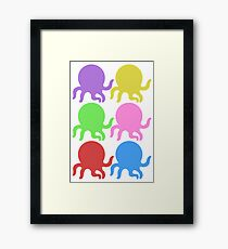 Colourful Octopus! Framed Print