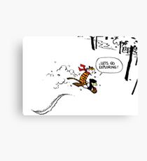 Calvin and Hobbes - Let's Go Exploring Canvas Print