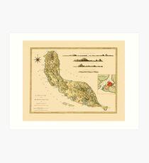Map Of Curacao 1794 Art Print