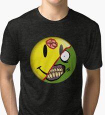 Zombie Happy Face Tri-blend T-Shirt