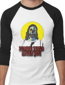 Zombie Jesus Loves You Men's Baseball ¾ T-Shirt