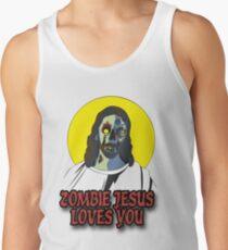 Zombie Jesus Loves You Tank Top