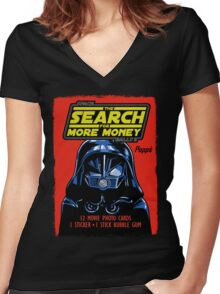 THE SEARCH FOR MORE MONEY Women's Fitted V-Neck T-Shirt