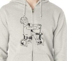 Vintage 30s Tricycle Boy Zipped Hoodie