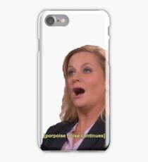 Parks and Recreation: porpoise noises  iPhone Case/Skin