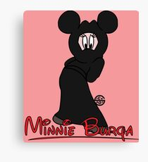 Minnie Burqa Canvas Print