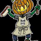 Pumpkin Head Grilling by Wislander