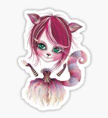 Cheshire Kitty Sticker