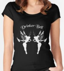 2 DrinkerBell Light Women's Fitted Scoop T-Shirt