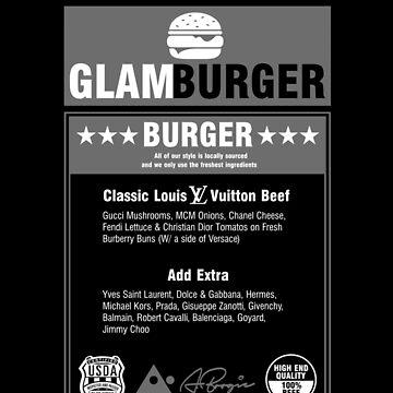 GlamBurger Menu by WhoIsABoogie