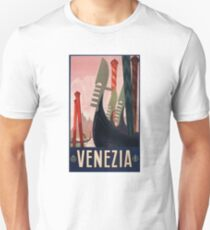 1928 Venice Italy Travel Poster Unisex T-Shirt