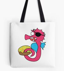 zombie pirate seahorse dangles a donut Tote Bag