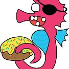 zombie pirate seahorse dangles a donut by shortstack