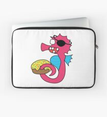 zombie pirate seahorse dangles a donut Laptop Sleeve