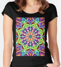 neon rainbow Women's Fitted Scoop T-Shirt