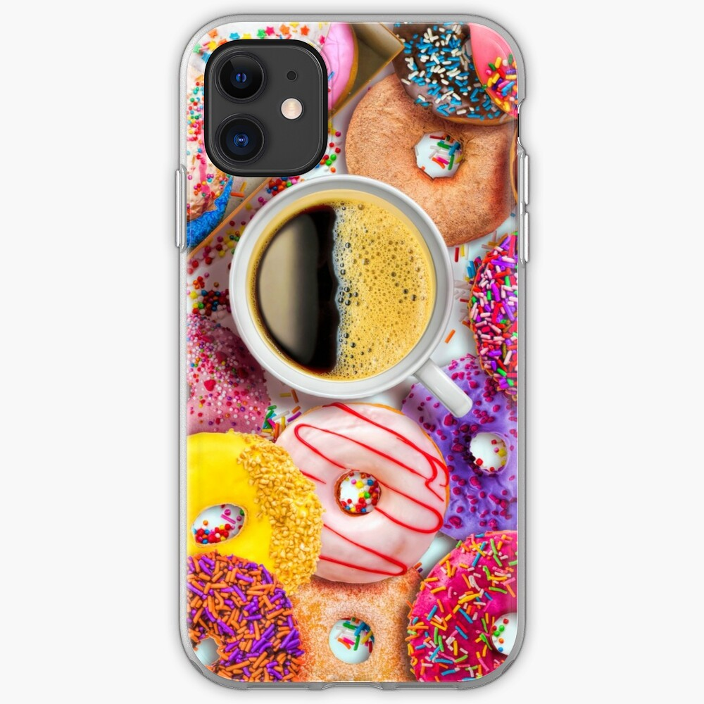 Donuts & Coffee iPhone Soft Case