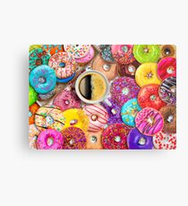 Donuts & Coffee Metal Print