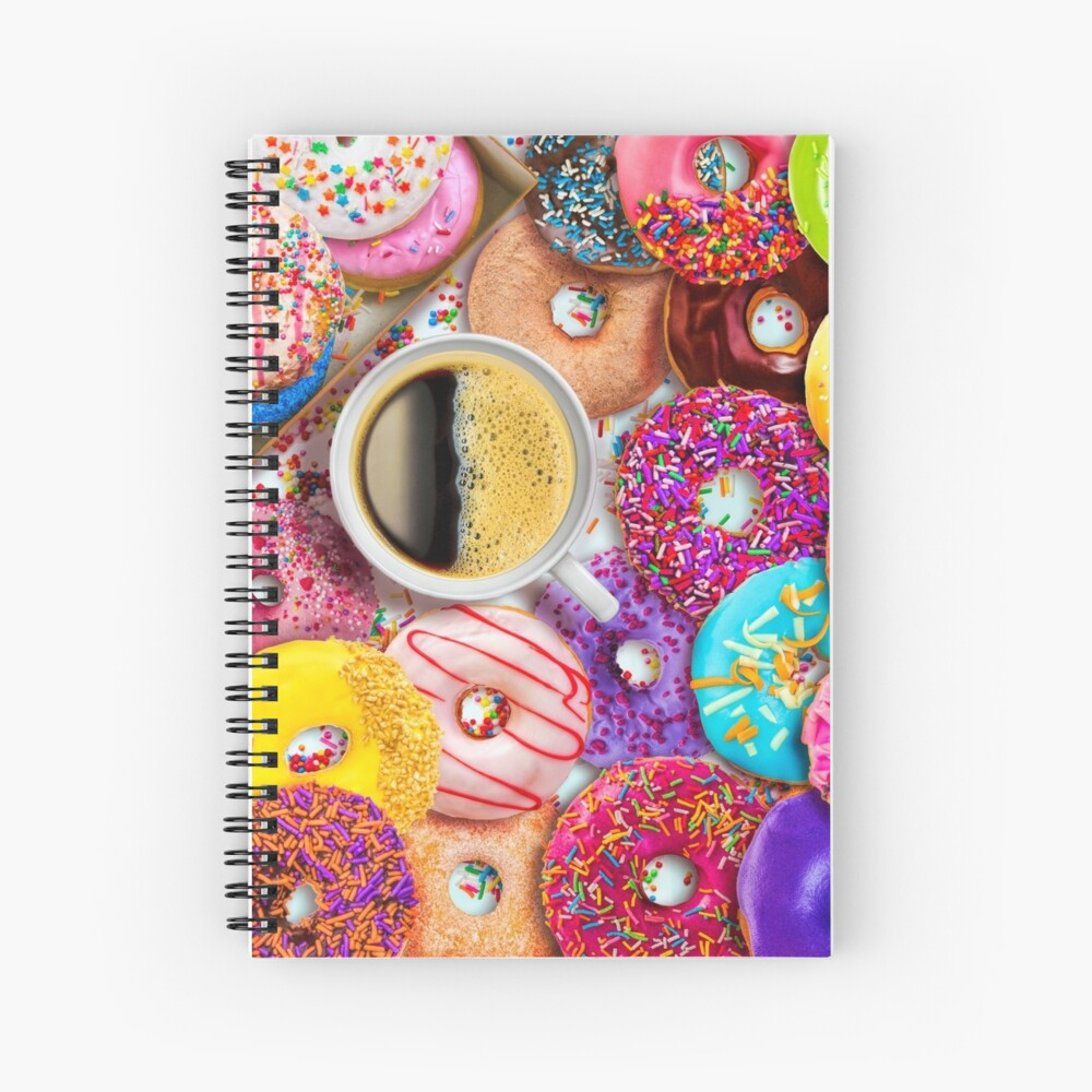 Donuts & Coffee Spiral Notebook