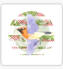 Cedar Waxwing & Berries Sticker