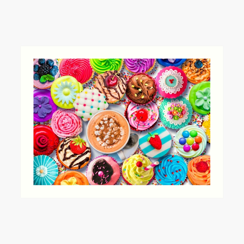 Cupcakes and Cocoa Art Print
