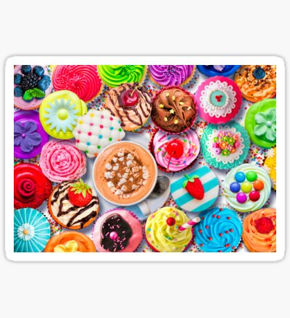 Cupcakes and Cocoa Sticker