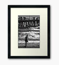 Girl on Beach Framed Print