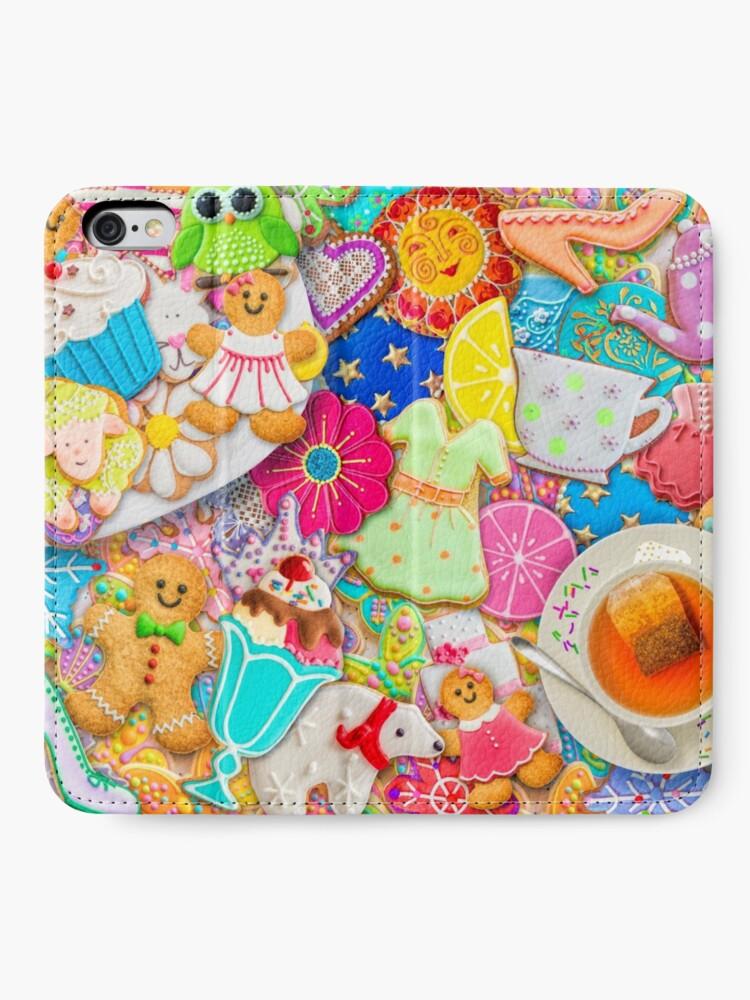 Alternate view of Tea and Cookies iPhone Wallet
