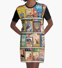 Reiseführer Bücherregal T-Shirt Kleid