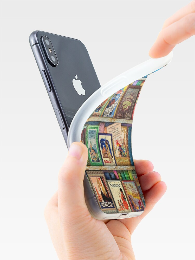 Alternate view of Travel Guide Book Shelf iPhone Cases & Covers