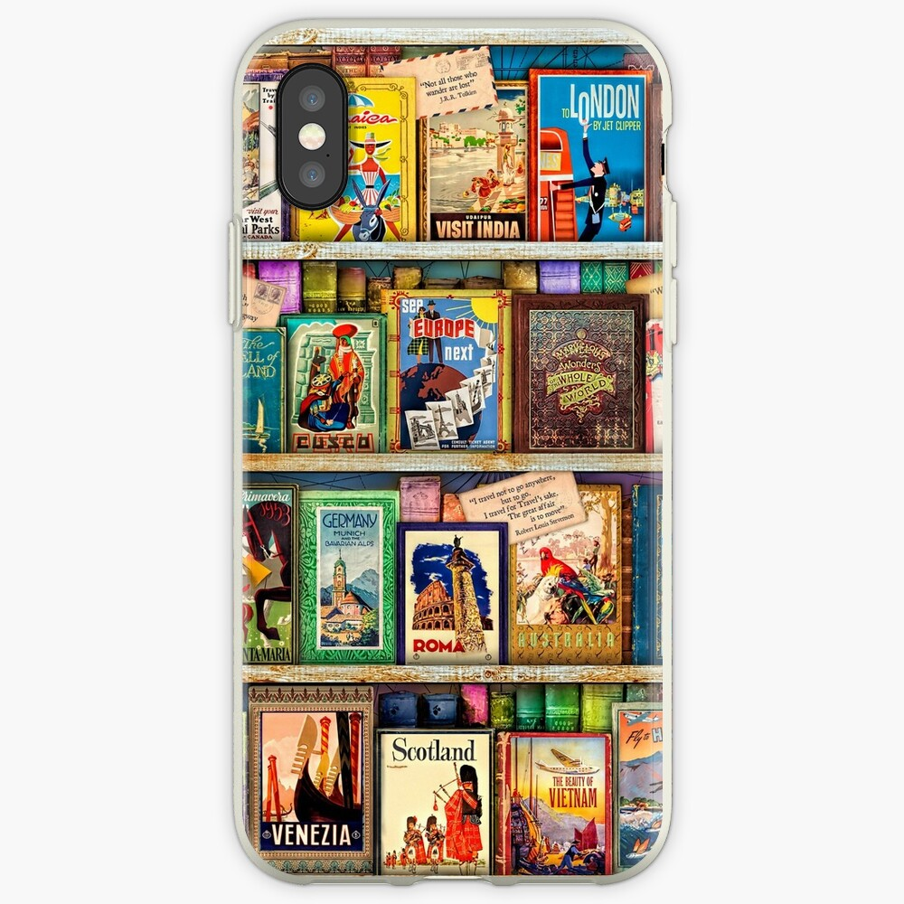 Travel Guide Book Shelf iPhone Cases & Covers