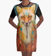 Wise Fox Graphic T-Shirt Dress