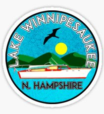 LAKE WINNIPESAUKEE NEW HAMPSHIRE CAMPING BOATING SAILING CHRIS-CRAFT BOAT Sticker