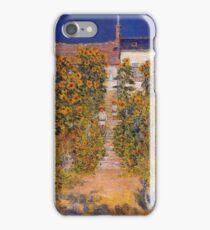 Claude Monet - The Artist S Garden At Vetheuil iPhone Case/Skin