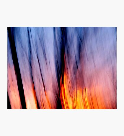 Out of the Blue into the Fire #1 Photographic Print