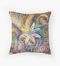 Eight armed starfish #DeepDream Throw Pillow