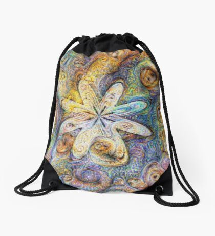 Eight armed starfish #DeepDream Drawstring Bag
