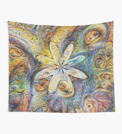 Eight armed starfish #DeepDream Wall Tapestry