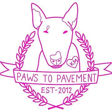 Paws To Pavement Dog Walking San Diego Pink by Ejmckinney19