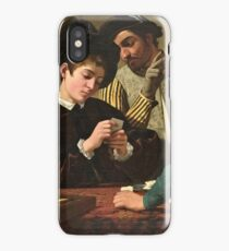 Caravaggio - The Cardsharps ( 1595)  iPhone Case/Skin