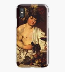 Caravaggio - The adolescent Bacchus (1595 - 1597)  iPhone Case/Skin
