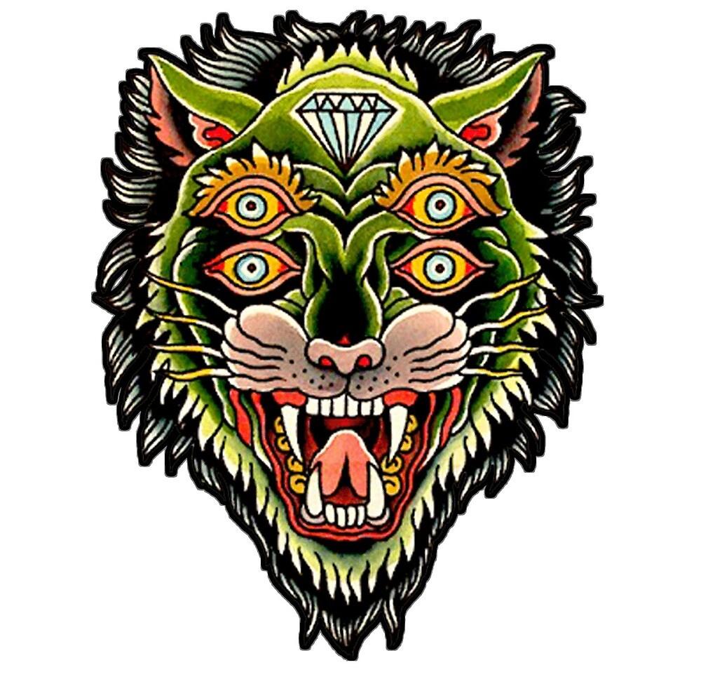 030274295a7 Conception traditionnelle de tatouage de diamant de tigre de monstre » par  DRtattoo
