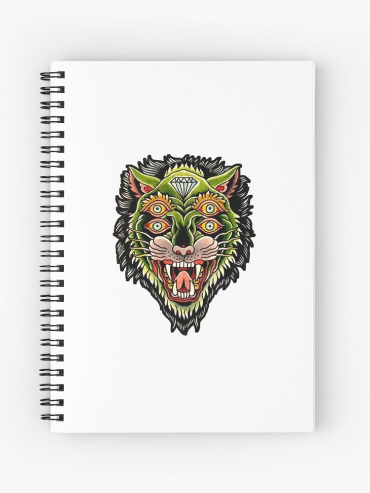 ef43524766b4a Traditional Tiger Monster Diamond Tattoo Design