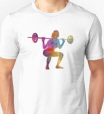 Body building woman isolated Unisex T-Shirt