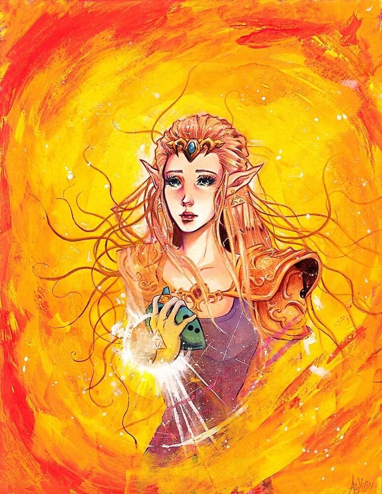 princess zelda by arumise