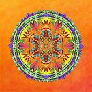 Sunshine Circle Mandala  by Lucie Rovná